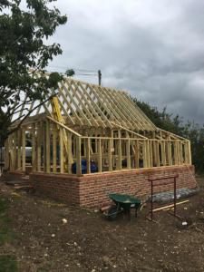 Construction of Cart Lodge Little Munden